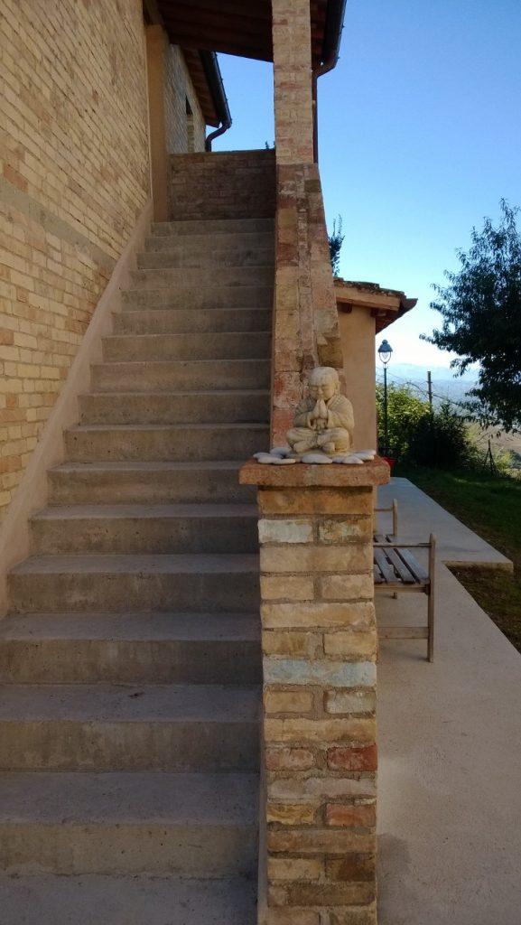 Bild zeigt Buddha an Treppenaufgang als Symbol für ETF Artikellesepause.