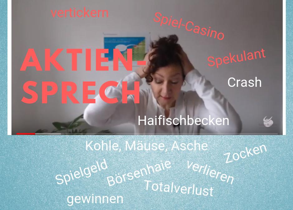 Aktien-Sprech