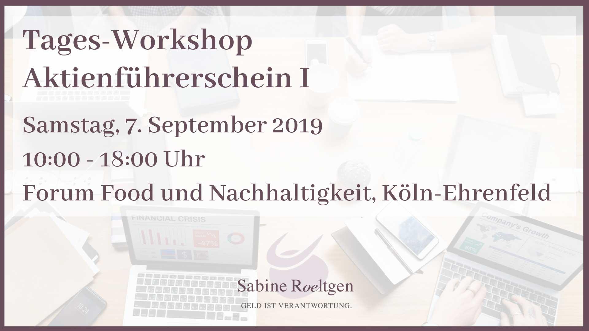 Save the Date: Aktien Seminar in Köln