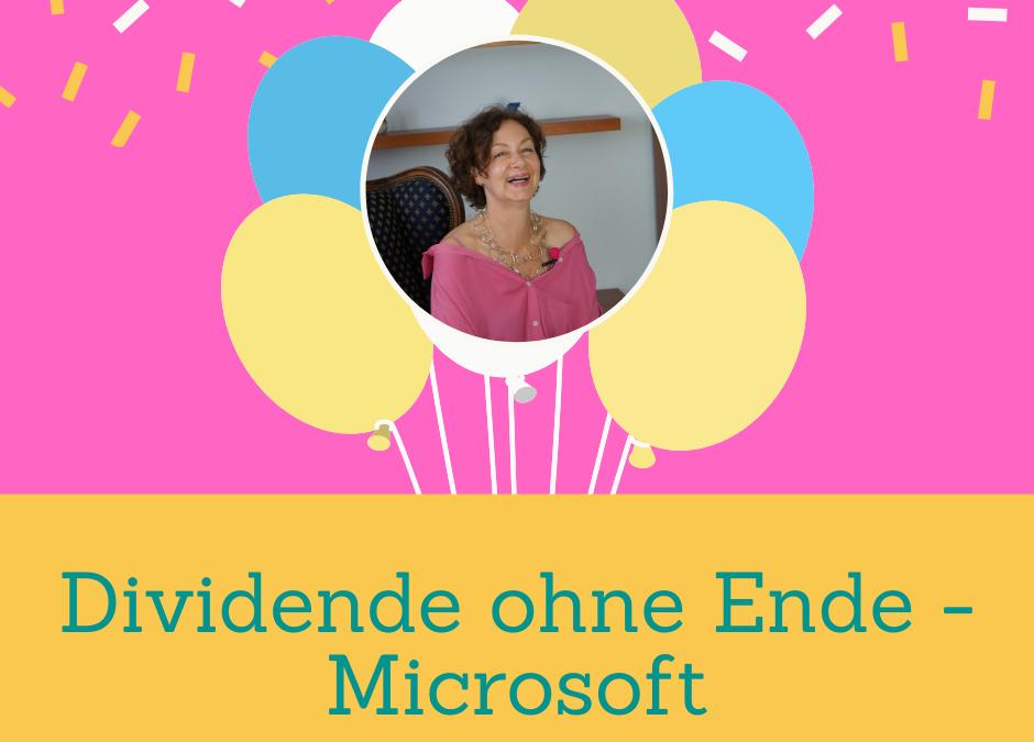 Dividende ohne Ende – Microsoft